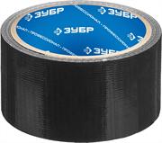 ЗУБР 48 мм х 10 м, черная, на тканевой основе, армированная лента (скотч) 12096-50-10 Профессионал
