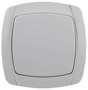 """СВЕТОЗАР 10А/~250В, белый, одноклавишный, выключатель """"CITY LIGHT"""" SV-54230-W"""