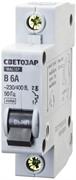 """СВЕТОЗАР 6 А, 4,5 kA, 1-полюсной, """"B"""", 230/400 B, автоматический выключатель 49050-06-B"""