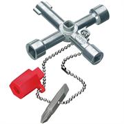 KNIPEX 76 мм (3/9 мм), ключ для электрошкафов TwinKey® KN-001103