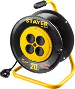STAYER 20 м, 1300Вт, ПВС 2x0,75 удлинитель на катушке MS 207 55073-20_z01