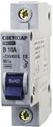 """СВЕТОЗАР 10 А, 4,5 kA, 1-полюсной, """"B"""", 230/400 В, автоматический выключатель 49050-10-B"""