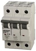 """СВЕТОЗАР 16 А, 400 B, 6 kA, 3-полюсной, """"C"""", автоматический выключатель """"ПРЕМИУМ"""" SV-49023-16-C"""