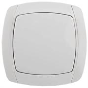 """СВЕТОЗАР 10А/~250В, белый, проходной, одноклавишный, выключатель """"CITY LIGHT"""" SV-54237-W"""