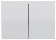 """СВЕТОЗАР двухклавишный, без вставки и рамки, выключатель """"ЭФФЕКТ"""" SV-54434-W"""