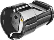 STAYER 16А/220 В, 16A, черная, розетка прямая MAXElectro 55180-B