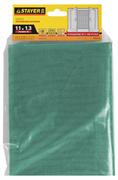 STAYER 1,1х1,3 м, стекловолокно+ПВХ, зеленая, для окон, в индивидуальной упаковке, сетка противомоски