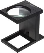 ЗУБР 3 кратное увеличение, d 90 мм, линза из стекла, лупа с подсветкой МАСТЕР 40542-90