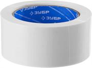 ЗУБР 48 мм х 25 м, белая, на тканевой основе, армированная лента (скотч) 12092-50-25 Профессионал