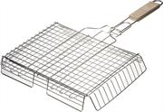 GRINDA 340х260 мм, нержавеющая, решетка-гриль объемная BARBECUE 424732