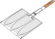 GRINDA 280х280 мм, трехместная, решетка-гриль для рыбы BARBECUE 424721