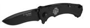 ЗУБР 210 мм/лезвие 85 мм, металлическая рукоятка, нож складной ХРАНИТЕЛЬ 47710