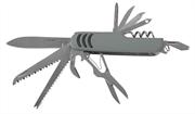 ЗУБР 12 в 1, обрезиненная рукоятка 90 мм, многофункциональный нож 47780