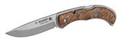 ЗУБР 220 мм/лезвие 95 мм, рукоятка с деревянными накладками, нож складной НОРМАНН 47714