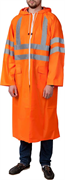 ЗУБР 56-58, размер оранжевый, светоотражающие полосы, плащ-дождевик 11617-56 Профессионал