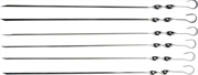 GRINDA 550 мм, 6 шт., угловые, в упаковке, шампуры BARBECUE 427756