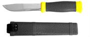 STAYER лезвие 110 мм, обрезиненная ручка, нож туристический 47630