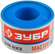 ЗУБР толщина 0,1 мм, плотность 0,40 г/см3, ширина 25 мм, фум лента 12373-25-040