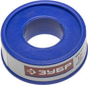 ЗУБР толщина 0,1 мм, плотность 0,16 г/см3, ширина 12 мм, фум лента 12373-12-016