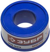 ЗУБР толщина 0,1 мм, плотность 0,25 г/см3, ширина 19 мм, фум лента 12373-19-025