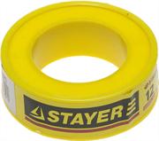 STAYER толщина 0,075 мм, плотность 0,25 г/см3, ширина 12 мм, фум лента 12360-12-025