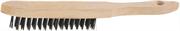 STAYER 4 ряда, деревянная ручка, стальная, щетка проволочная35020-4