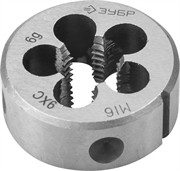 ЗУБР М16 x 1.5 мм, 9ХС, круглая ручная, плашка 4-28022-16-1.5