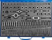 ЗУБР 110 предметов, Р6М5, набор метчиков и плашек 28110-H110 Профессионал