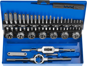 ЗУБР 32 предмета, Р6М5, набор метчиков и плашек 28110-H32 Профессионал