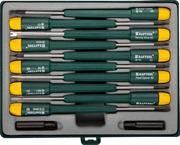 KRAFTOOL 12 предметов, набор отверток для точных работ и телекоммуникационного оборудования X-Telecom 25616-H12