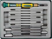 KRAFTOOL 12 предметов, отвёртка для точных работ со сменными стержнями и головками X-Turbo 25611-H12