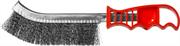MIRAX однорядная, пластмассовая рукоятка, витая стальная проволока, щетка проволочная 35112-2