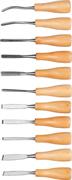 DEXX 11 шт., набор фигурных резцов с деревянной ручкой 1834-H11_z01