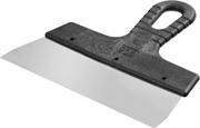 СИБИН 200 мм, нержавеющая полотно, пластмассовая рукоятка, шпатель фасадный 10079-200_z01