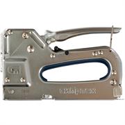 Сибртех тип скобы 53, 4-14 мм, металлический, регулируемый, степлер мебельный 40101