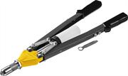 STAYER заклепки 3.2-6.4 мм - алюминий и сталь, 3.2-4.8 мм - нерж. сталь, заклепочник двуручный усиленный 3106_z01