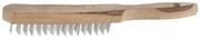 ТЕВТОН 3 ряда, деревянная ручка, стальная, щетка проволочная 3503-3