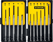 STAYER 11 шт., набор отверток для точных работ Maxfix 2560-H11_z02