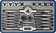 ЗУБР 24 предмета, Р6М5, набор метчиков и плашек 28110-H24 Профессионал