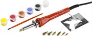 ЗУБР 7 насадок, краски, 30 Вт, прибор для выжигания с набором насадок и красками 55425