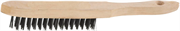 STAYER 6 рядов, деревянная ручка, стальная, щетка проволочная 35020-6
