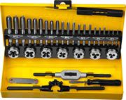 STAYER 32 предмета, легированная сталь, набор метчиков и плашек MaxCut