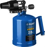 ЗУБР 2 л, стальной эжектор, лампа паяльная ВУЛКАН ВК-20 40652-2.0_z02 Профессионал