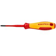 KNIPEX PZ1х187 мм, отвертка диэлектрическая PlusMinus Pozidriv® KN-982501SLS