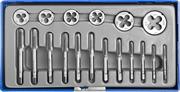 ЗУБР 18 предметов, 9ХС, набор метчиков и плашек в пластиковом боксе 28120-H18