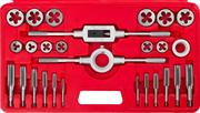 ЗУБР 27 предметов, 9ХС, набор метчиков и плашек в пластик. боксе 28123-H27
