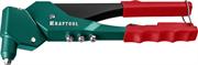 KRAFTOOL заклепки 2.4-4.8 мм - алюминий и сталь, 2.4-4.0 - нерж. сталь, литой корпус, 360°, заклепочник 31176_z01