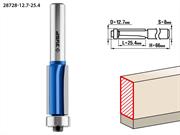ЗУБР D=12.7 мм, рабочая длина-25.4 мм, хв.-8 мм, d=12.7 мм, фреза кромочная с нижним подшипником (3 лезвия) 28728-12.7-25.4
