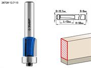 ЗУБР D=12.7 мм, рабочая длина-13 мм, хв.-8 мм, d=12.7 мм, фреза кромочная с нижним подшипником (3 лезвия) 28728-12.7-13