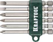"KRAFTOOL 6 шт., 1/4"", набор бит  26061-H6"